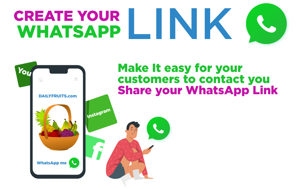Share your link to WhatsApp and get more customers